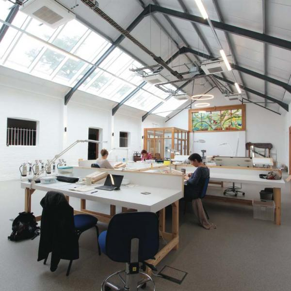 insect preparation and research room